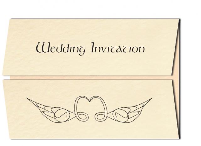 Wedding Invitation Celtic Swan