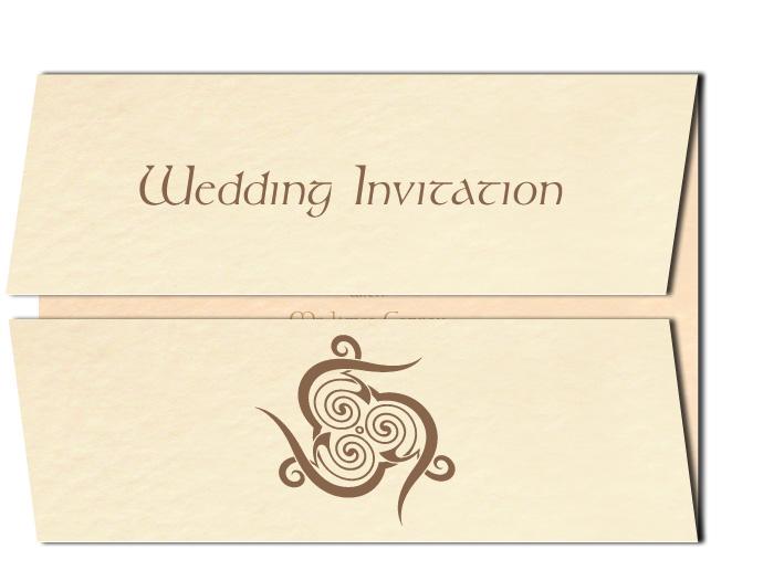 Wedding Invitation Celtic Spirl