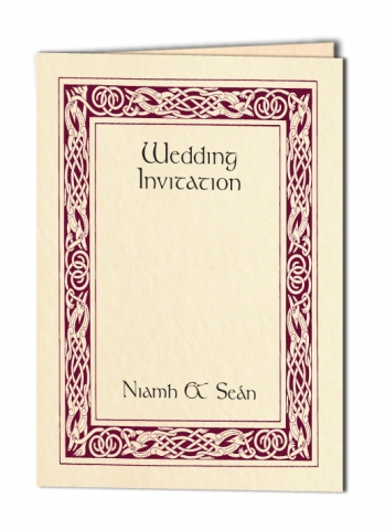 Celtic Border Wedding Invitation