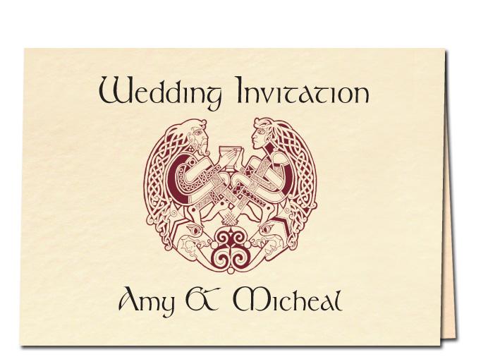 Celtic Couple Wedding Invitation