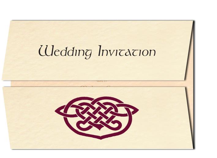 celtic heart wedding invitation - Celtic Wedding Invitations