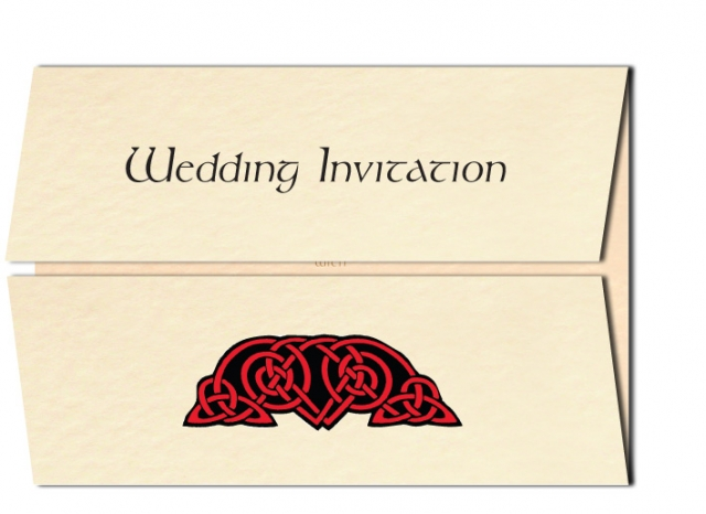 Celtic Knots Wedding Invitation