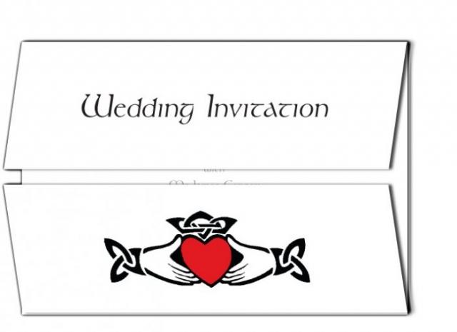Claddagh Wedding Invitation