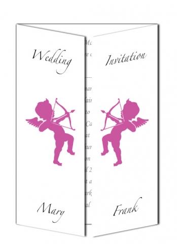 Cupid Design Wedding Invitation