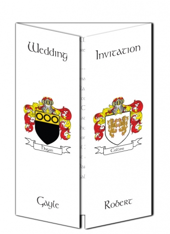 Family Crest Wedding Invitation