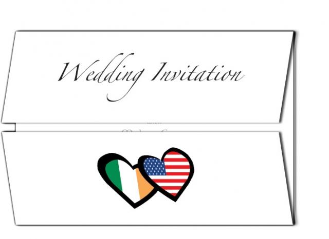 Irish and American Wedding Invitation