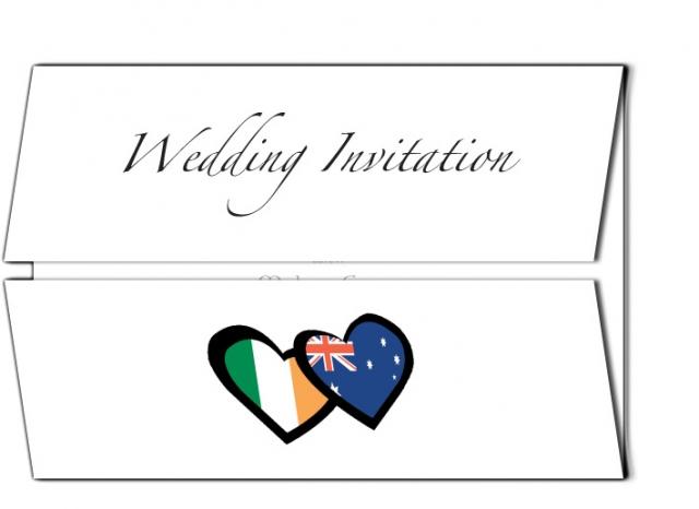 Irish and Australian Wedding Invitation