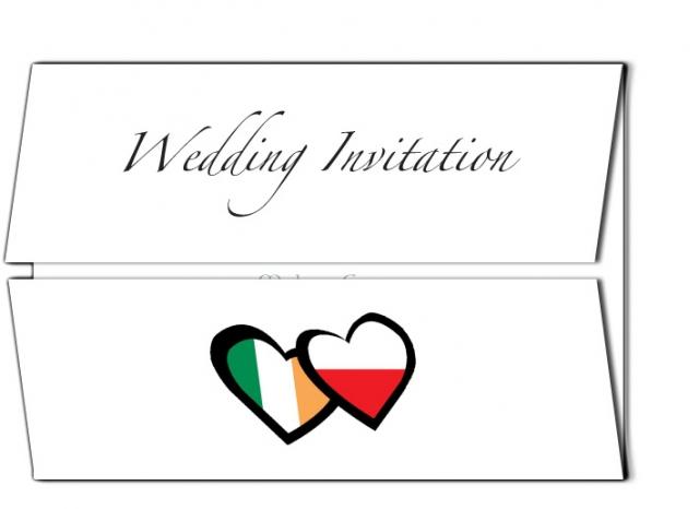 Irish and Polish Wedding Invitation