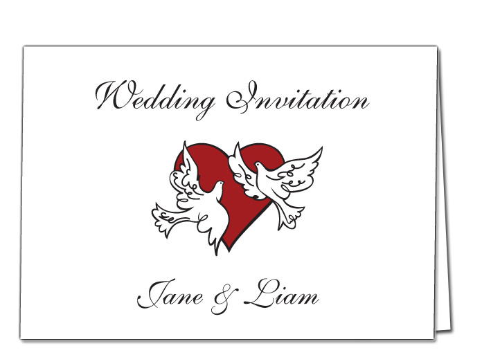 Wedding Invitation Love Birds Design