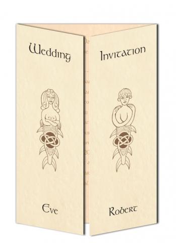 Merwoman and Merman Wedding Invitation