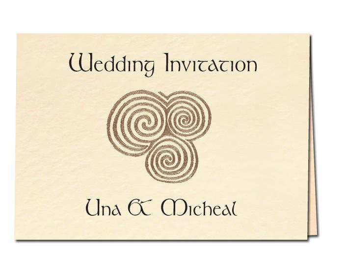 Newgrange Wedding Invitation