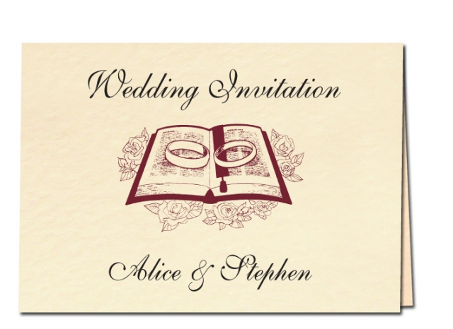 Wedding Invitation Rings and Bible Design