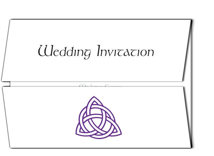 Trinity Knot Wedding Invitation