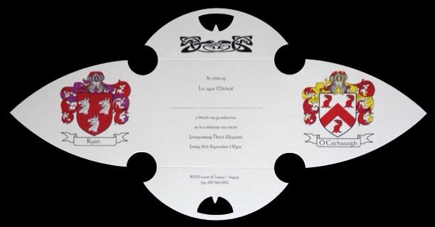 Gothic Shape Family Crest Wedding Invitation