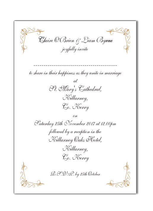 Text Insert Card For Laser Pocket Wedding Invitation
