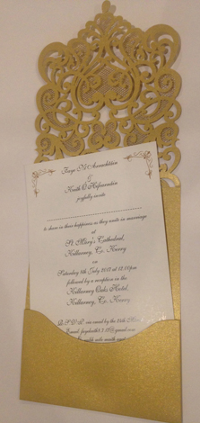 Laser cut wedding invitations order online in dublin give your wedding invitations a unique look and feel with laser cut wedding invitations filmwisefo