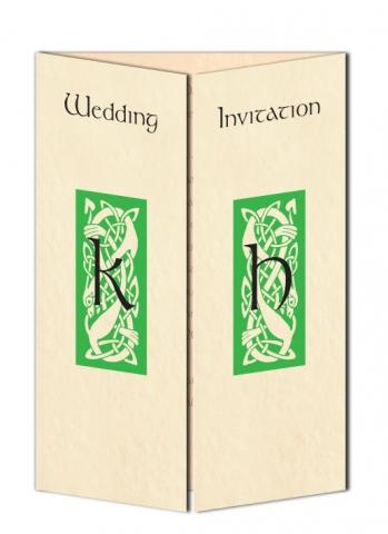 Celtic Initials Wedding Invitation