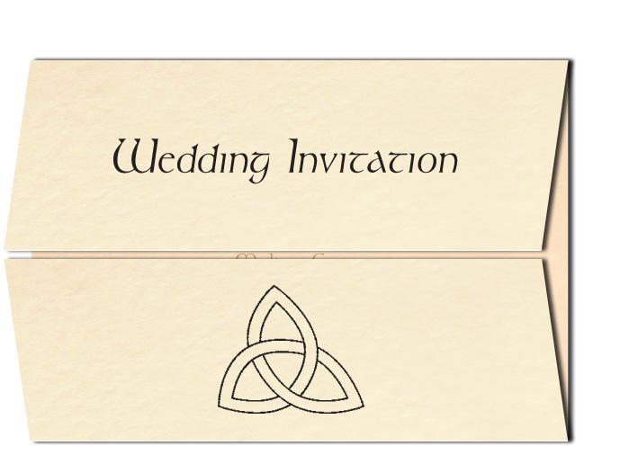 Celtic Wedding Invitation Trinity Knot