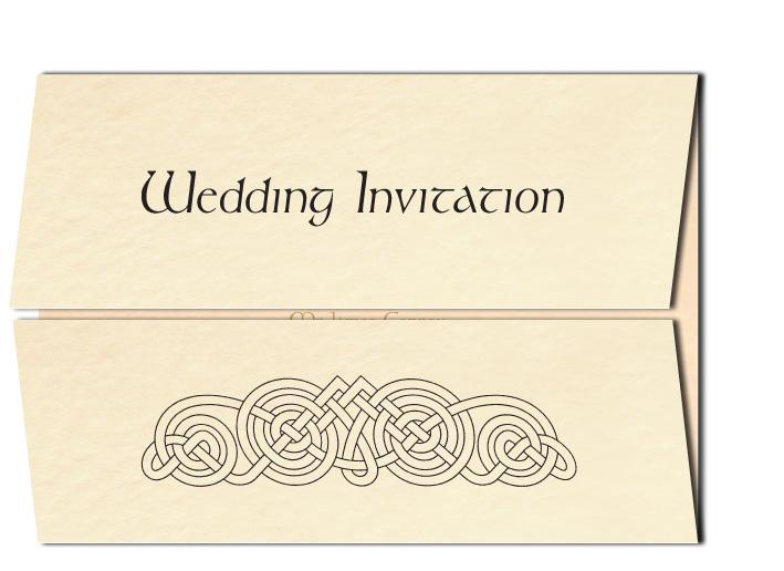 Wedding Invitation Celtic Circles Design
