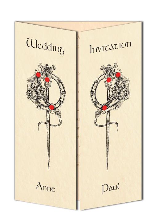 Tara Brooch Design Wedding Invitation